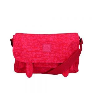 Artsac Pink Print Showerproof Shoulder Bag