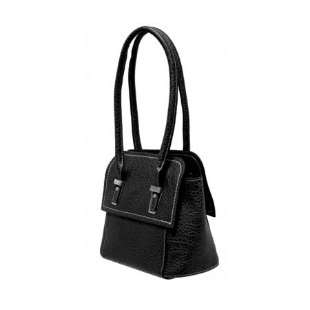 Envy Black Mid Sized Shoulder Bag