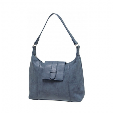 Envy Blue Mid Sized Shoulder Bag