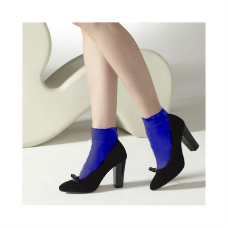 Gipsy Blue Opaque Ankle High Socks