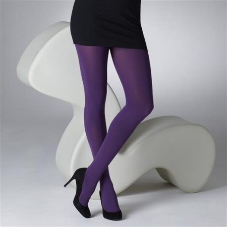 Gipsy Purple 100 Denier Opaque Tights