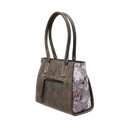 Envy Dark Grey Multi Print Handbag