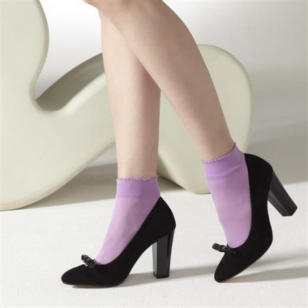 Gipsy Lilac Opaque Ankle High Socks