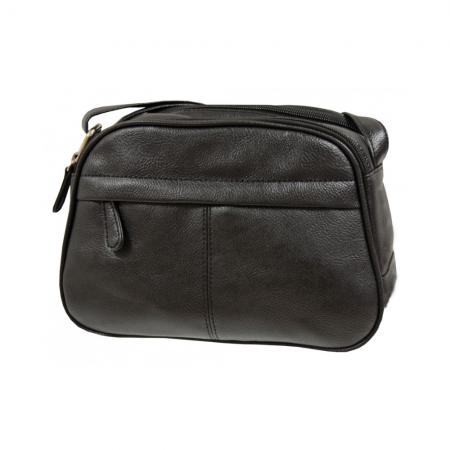 Envy Black Small Faux Leather Shoulder Bag