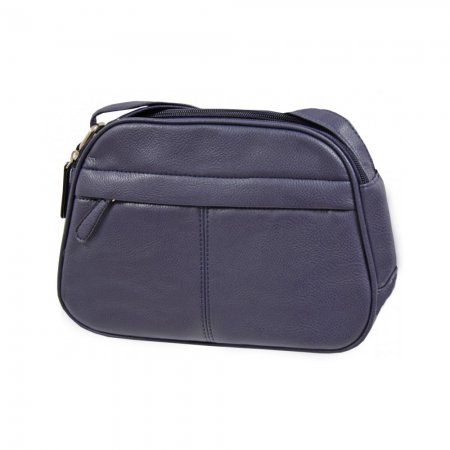 Envy Navy Small Faux Leather Shoulder Bag