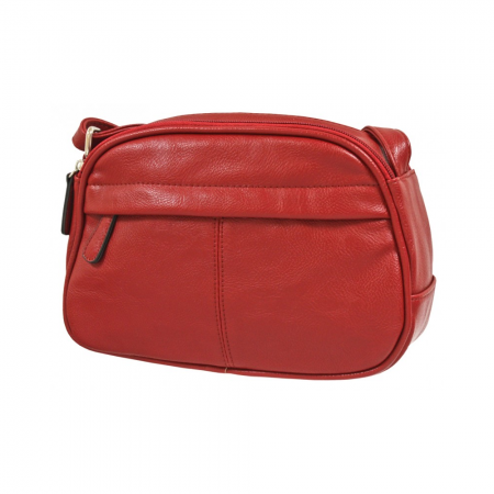 Envy Red Small Faux Leather Shoulder Bag