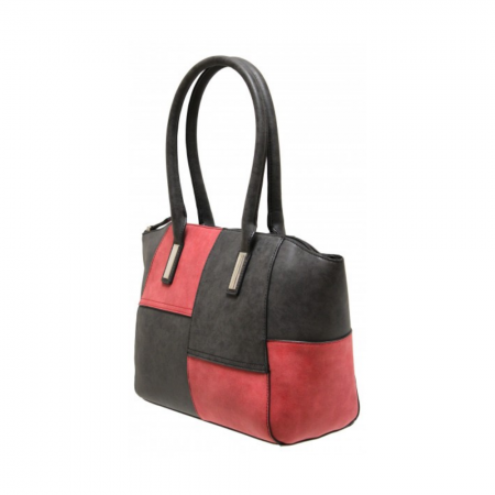 Envy Red Black Contrast Handbag