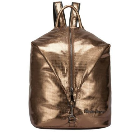 Claudia Canova Metallic Bronze Backpack