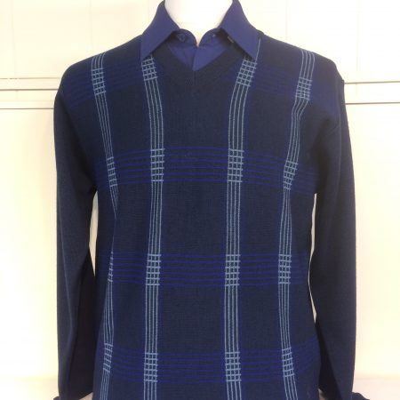 Gabicci Dark Blue V Neck Knitwear Jumper