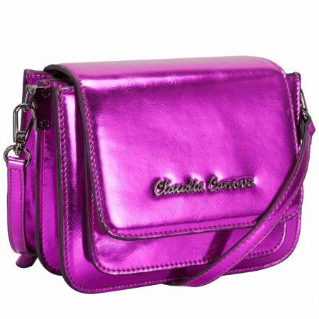 Claudia Canova Mini Pink Metallic Bag