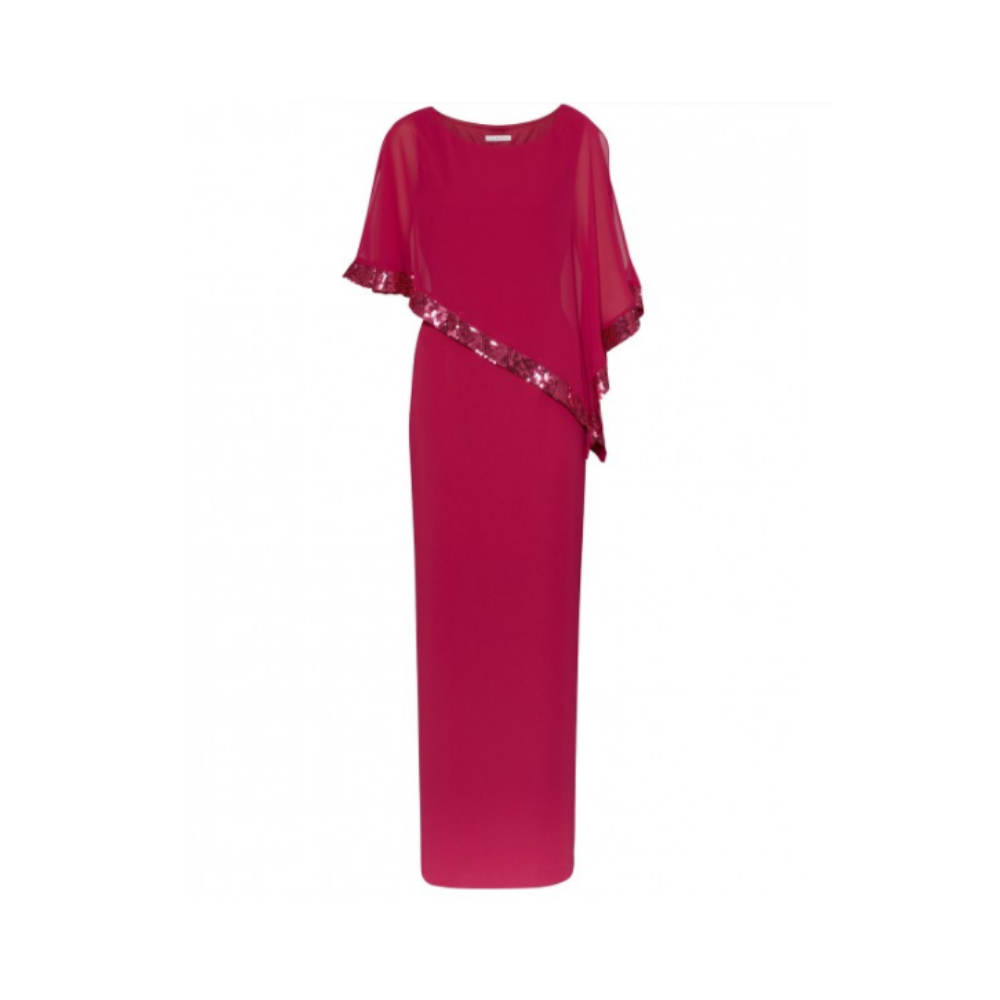 Gina Bacconi Pink Chiffon Evening Gown