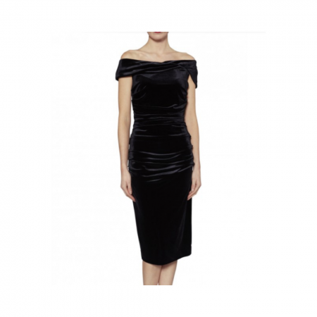 Gina Bacconi Black Velvet Party Dress