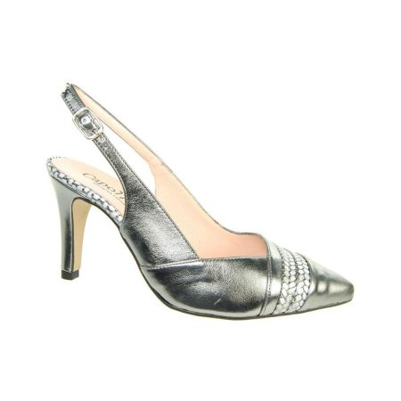 Capollini Lynette Pewter Leather Dress Shoes