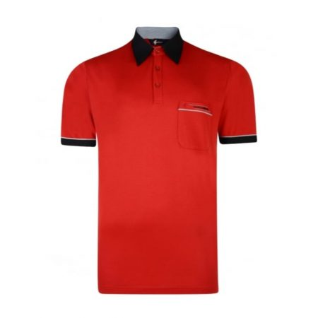 Gabicci patterned Red classic sports shirt