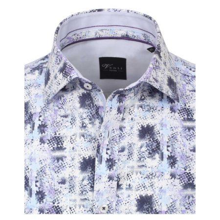 Venti Lilac Floral Print Long Sleeve Shirt