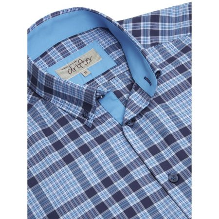 Drifter Multi Blues Check Short Sleeve Shirt