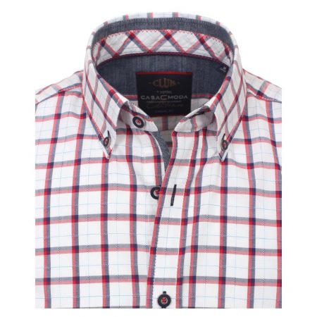 Casa Moda Red Open Check Shirt