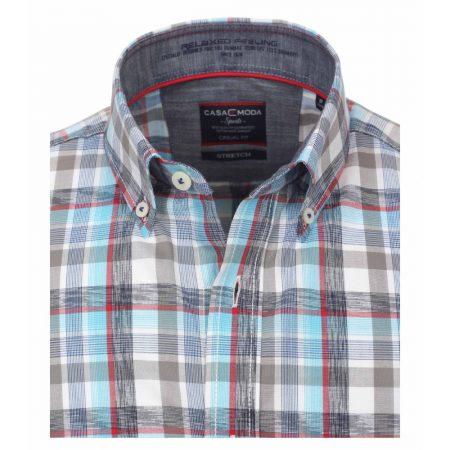 Casa Moda Turquoise Check Shirt