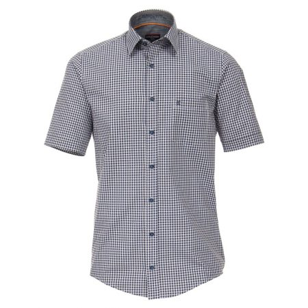 Casa Moda Short Sleeve Multi Check Shirt
