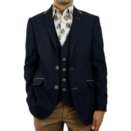 Claudio Lugli Navy Jacket Matching Waistcoat Set