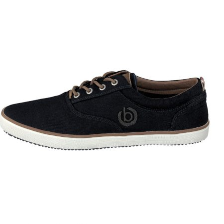 Bugatti Navy Canvas Casual Boat Shoes