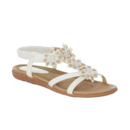Lunar Fiji White Floral Comfort Sandals