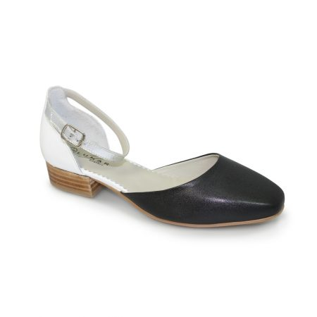 Lunar Allen Black Leather Flat Shoes