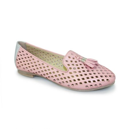 Lunar Alma Pink Leather Flat Shoes