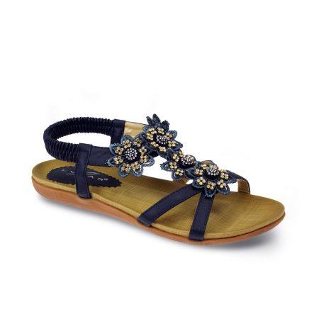 Lunar Fiji Navy Floral Comfort Sandals