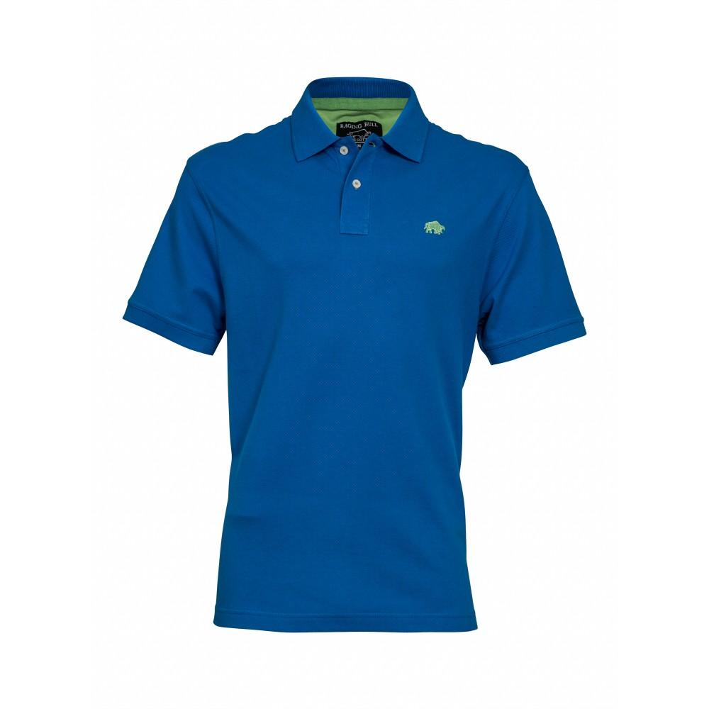 Raging bull cobalt signature polo shirt brooks shops for Cobalt blue polo shirt