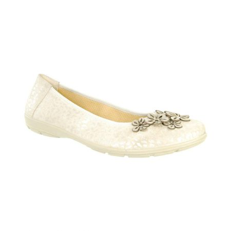 Alpina Ercilla Champagne Flat Shoes