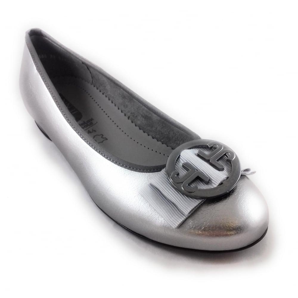 Jenny Ara Pisa Metallic Pewter Ballet Flats - Brooks Shops 08f164dc29