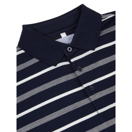 Douglas Navy Striped Polo Shirt