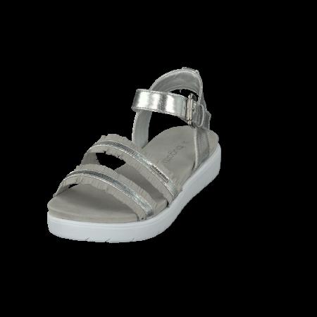 Bugatti Silver Grey Flatform Sandals