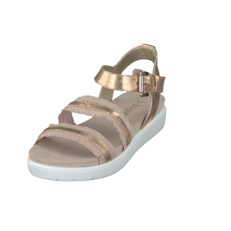 Bugatti Rose Gold Flatform Sandals