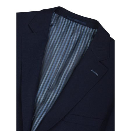 Douglas Navy Wool Smart Dress Jacket
