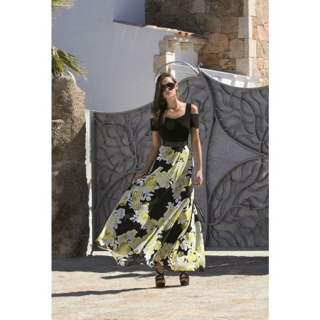 Michaela Louisa Yellow Floral Maxi Dress