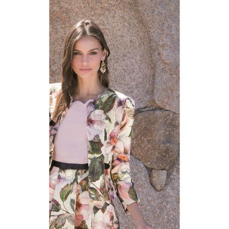 Michaela Louisa Pink Floral Dress Jacket Set