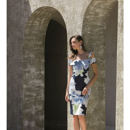 Michaela Louisa Navy Floral Print Dress