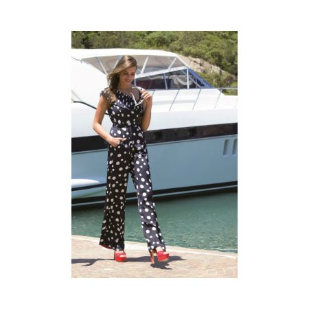 Michaela Louisa Navy Polka Dot Jumpsuit
