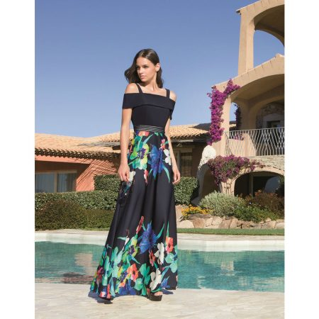 Michaela Louisa Navy Floral Maxi Dress
