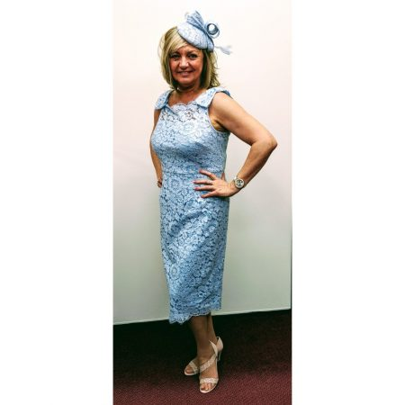 Gina Bacconi Pale Blue Lace Dress