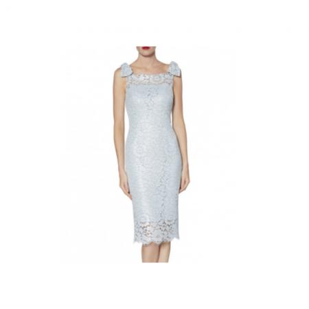 Gina Bacconi Pale Blue Lace Dress