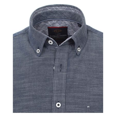 Casa Moda Plain Short Sleeve Blue Shirt