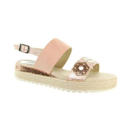 Adesso Chelsey Rose Gold Flat Platform Sandals