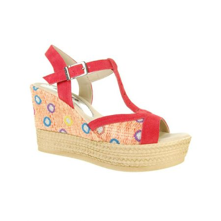 Adesso Gabby Coral High Wedge Sandals