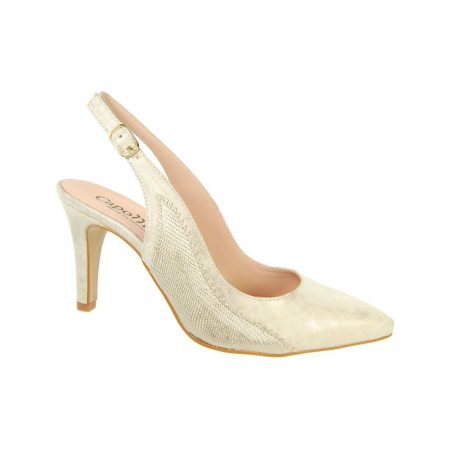 Capollini Luanne Platino Leather Heels