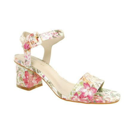 Capollini Ava Pastel Floral Print Sandals