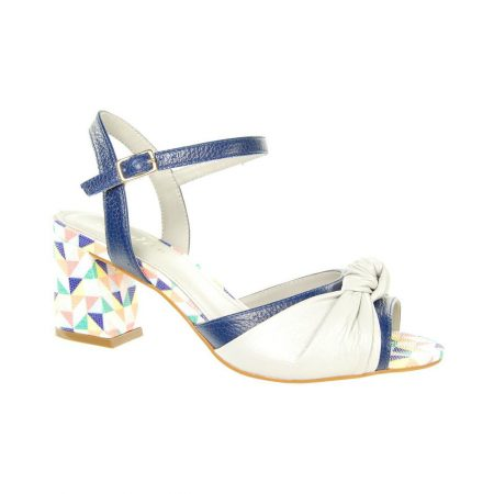 Capollini Adalyn Geometric Leather Sandals
