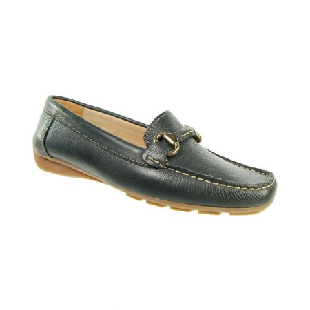 Capollini Charlene Navy Leather Loafers